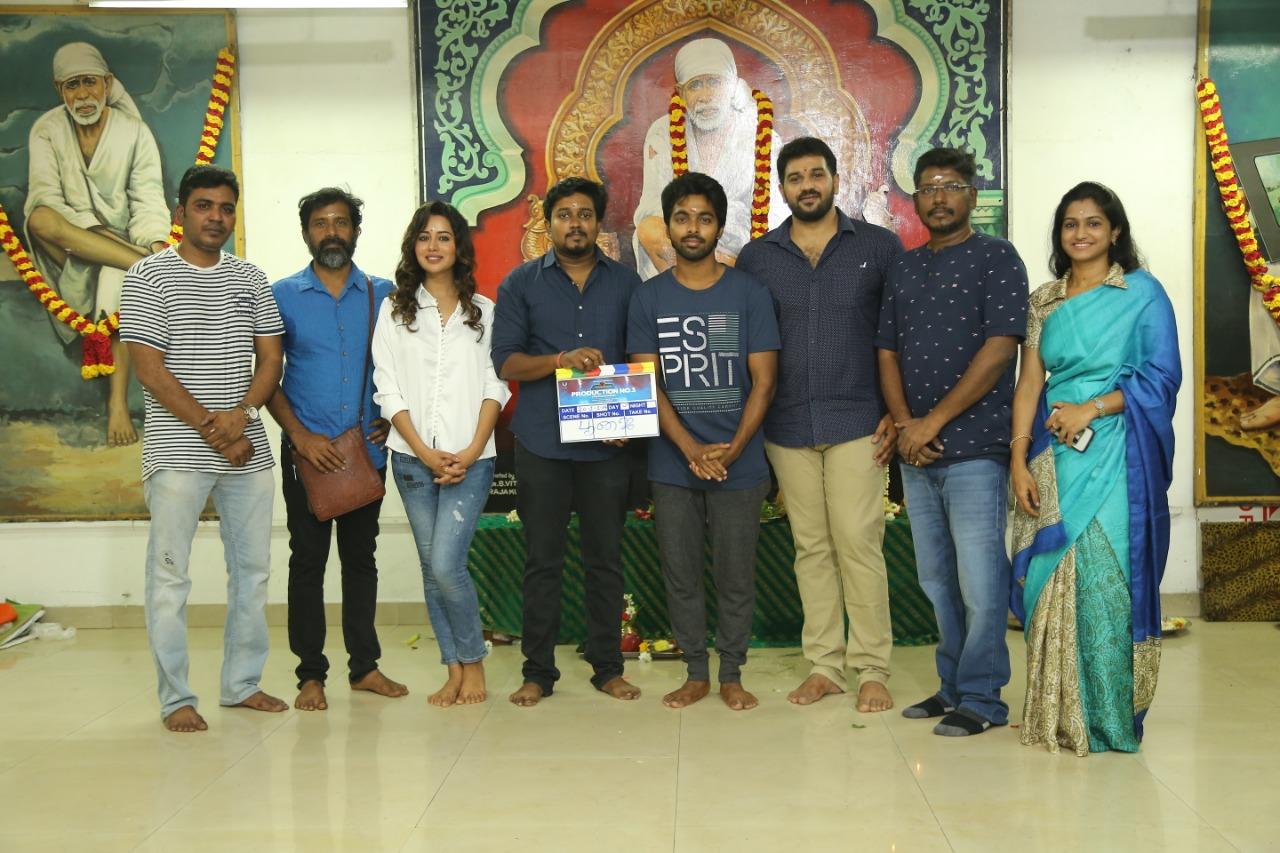 GV Prakash & Raizal Wilson @ Auraa Cinemas Production No.3 Movie Pooja