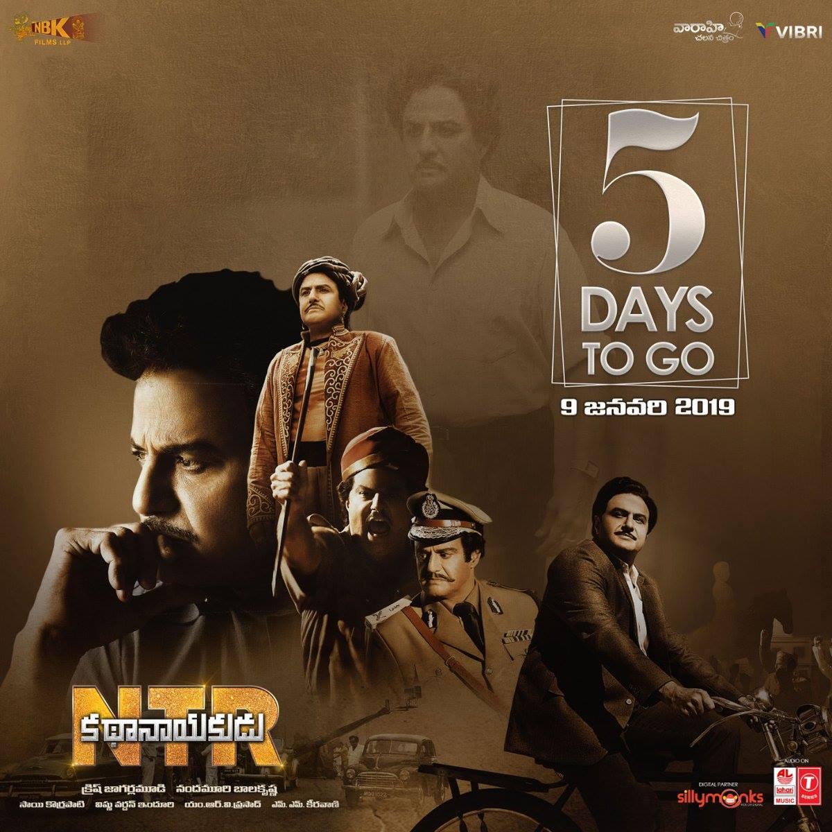 Nandamuri Balakrishna NTR KathaNayakudu 5 days to go Poster