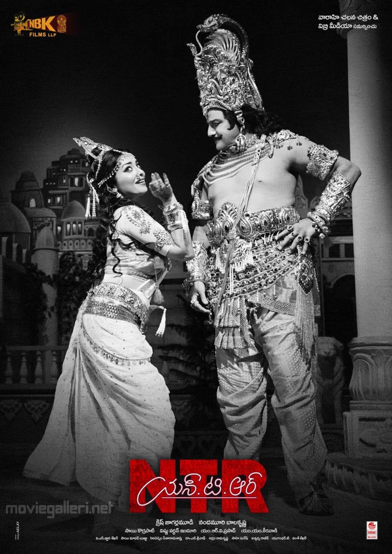 Nandamuri Balakrishna & Shriya Saran in NTR Kathanayakudu Movie Poster HD