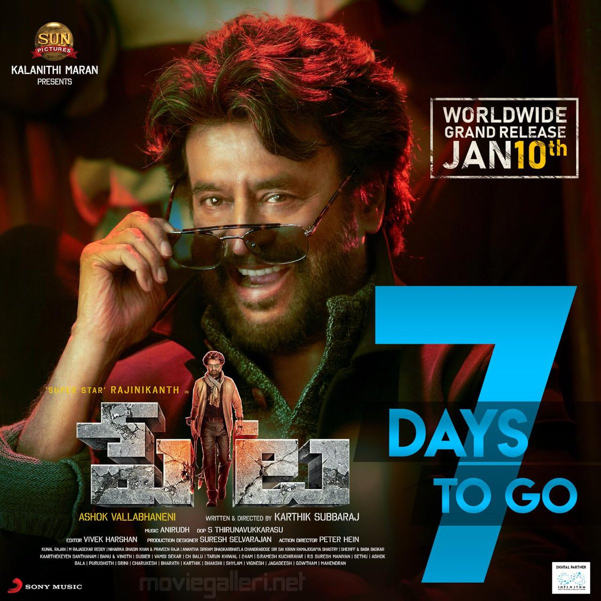 Rajini Petta 7 Days to Go Poster