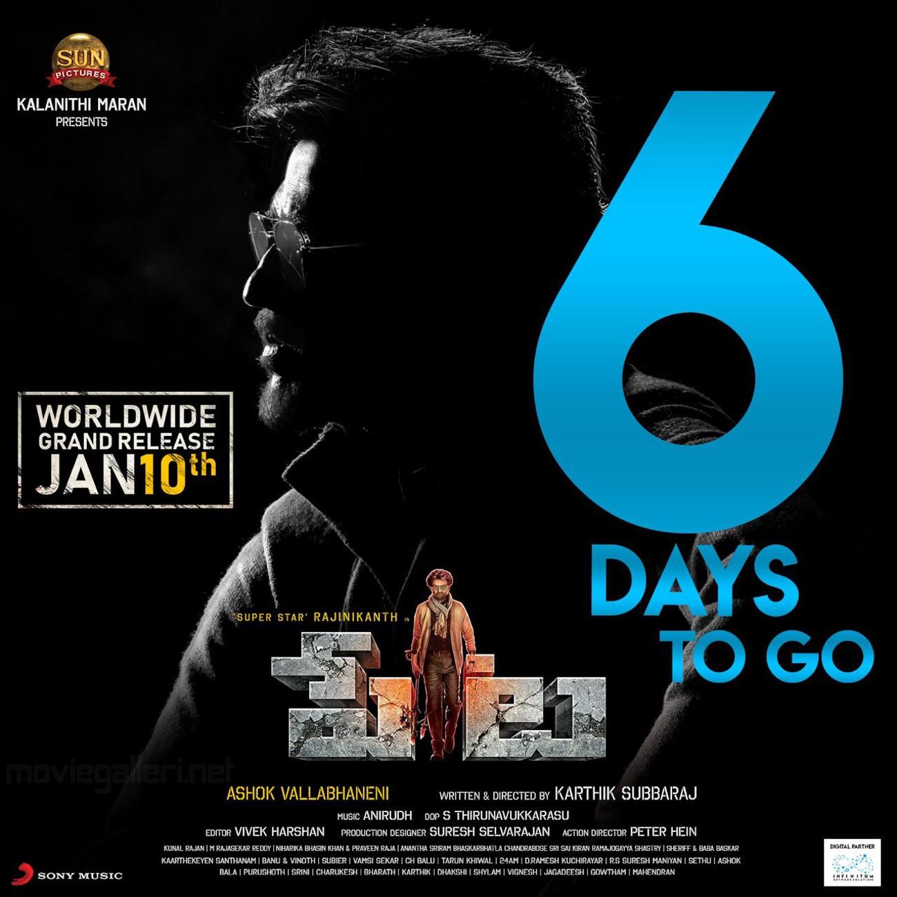 Rajinikanth Petta Movie 6 Days to Go Poster HD