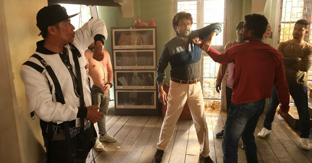 Rajinikanth Petta Movie Fight Working Stills