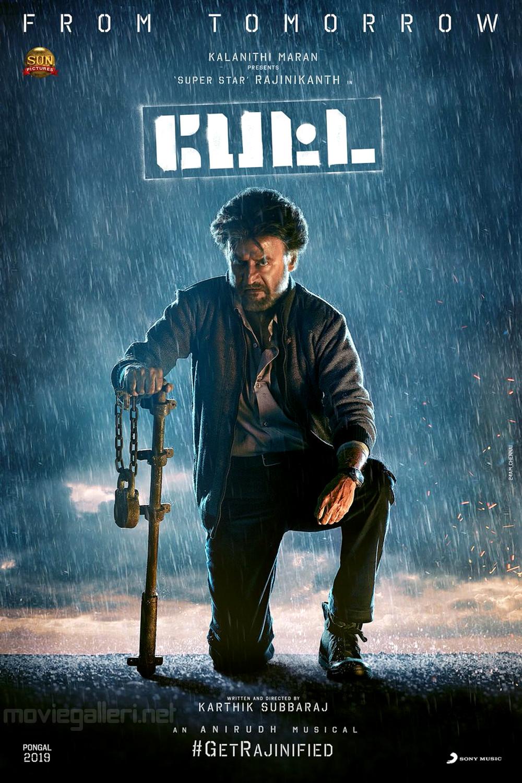 Rajinikanth Petta Movie Tomorrow Poster HD
