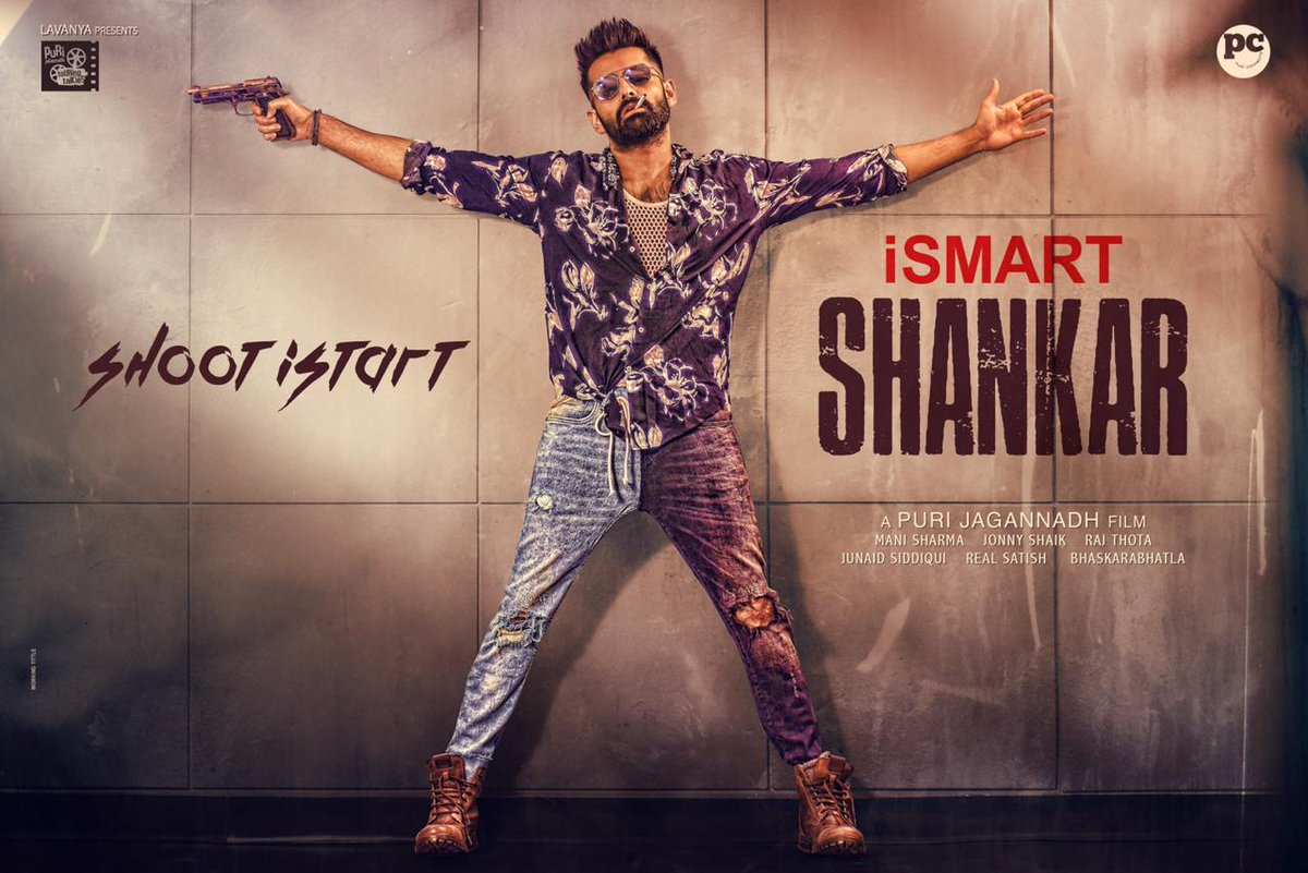 Ram iSmart Shankar Movie Shoot Starts Poster