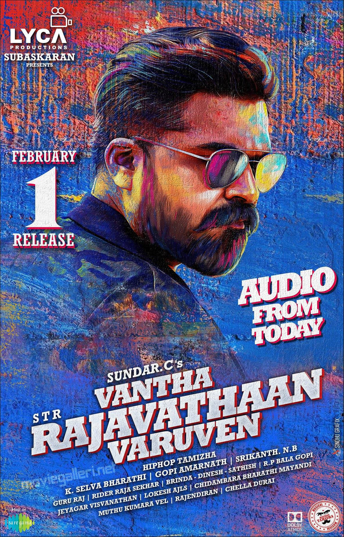 STR Vantha Rajavathaan Varuven Audio Release Today Posters