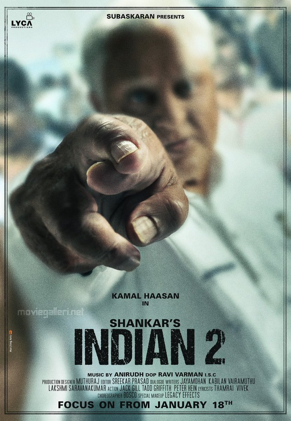 Shankar Kamal Haasan Indian 2 Movie First Look Poster HD