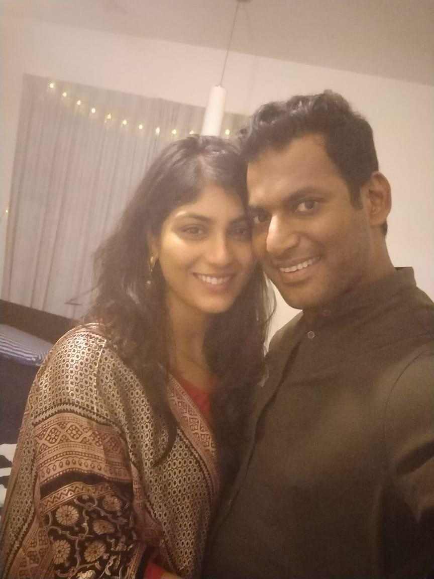 Tamil Actor Vishal fiance Anisha Reddy Photos