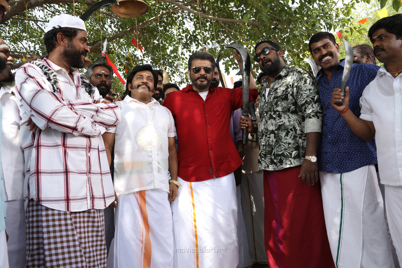 Thambi Ramaiah, Ajith, Robo Shankar in Viswasam Movie HD Images