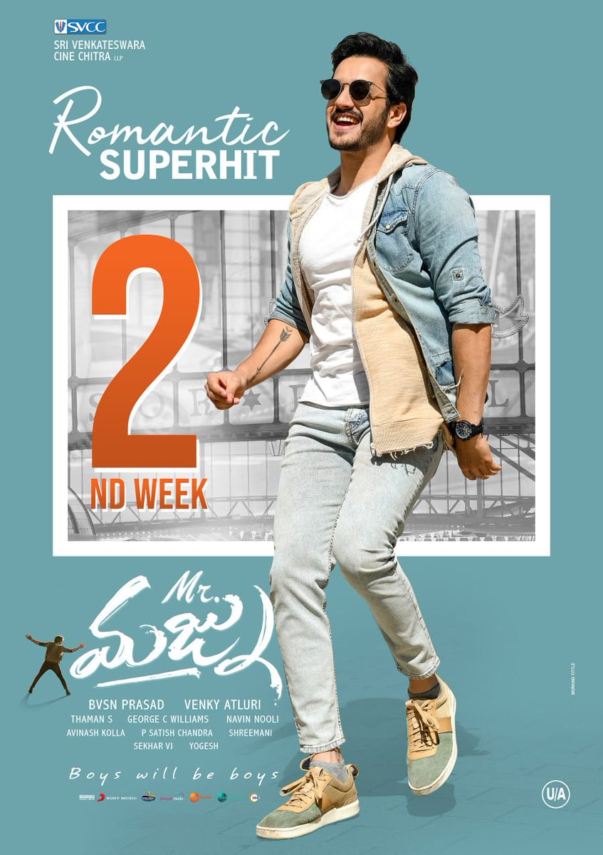 Actor Akhil Akkineni Mr Majnu Movie 2nd Week Posters
