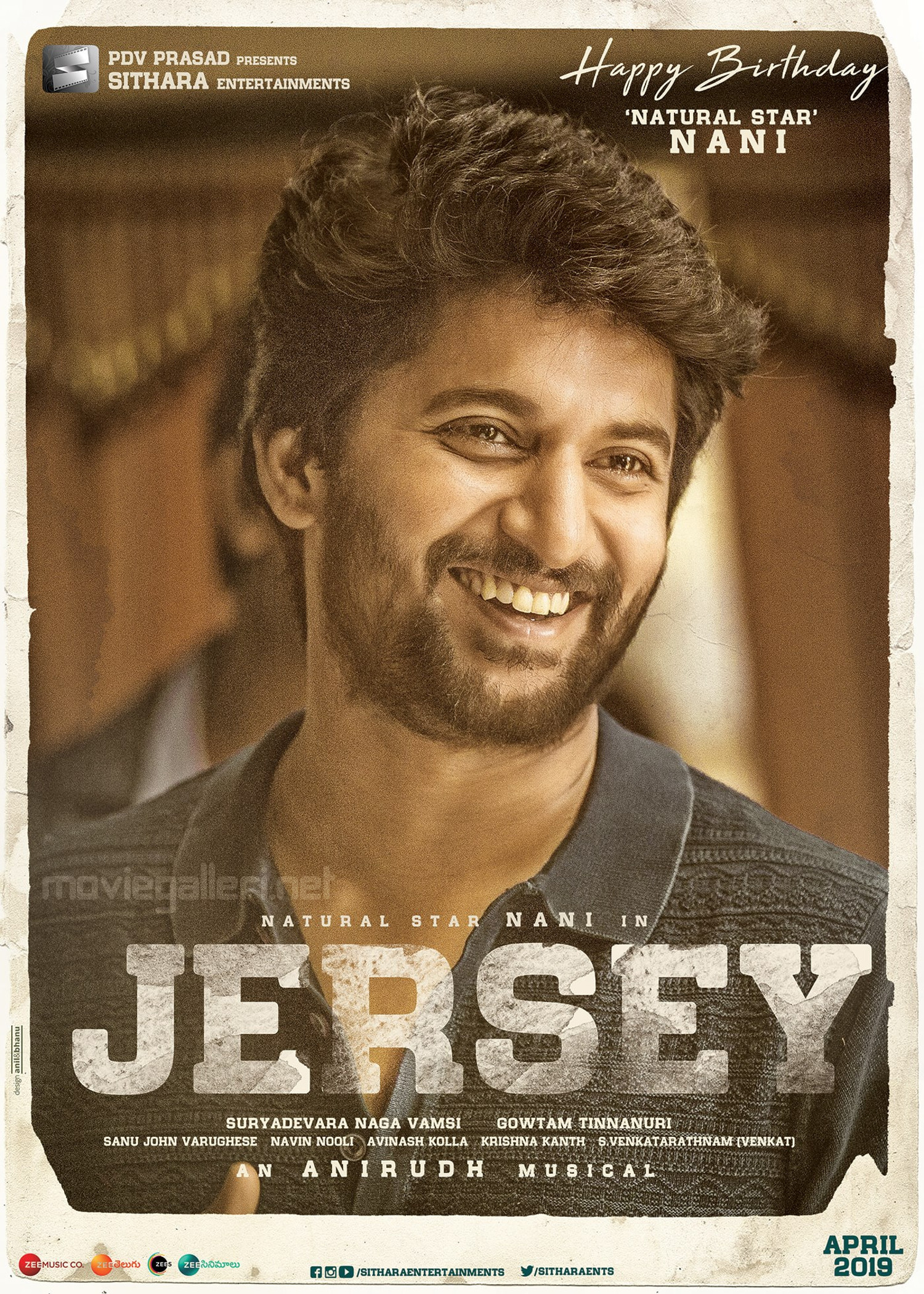 Actor Nani Birthday Wishes Posters From Jersey Movie Team