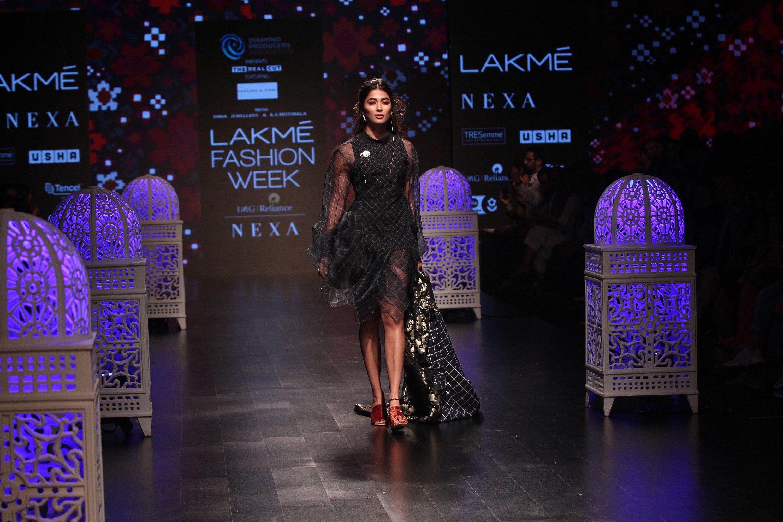 Actress Pooja Hegde Walks Ramp @ Lakme Fashion Week 2019 Day 4