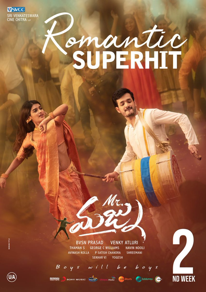 Akhil Akkineni Nidhi Agarwal Mr Majnu Movie 2nd Week Posters