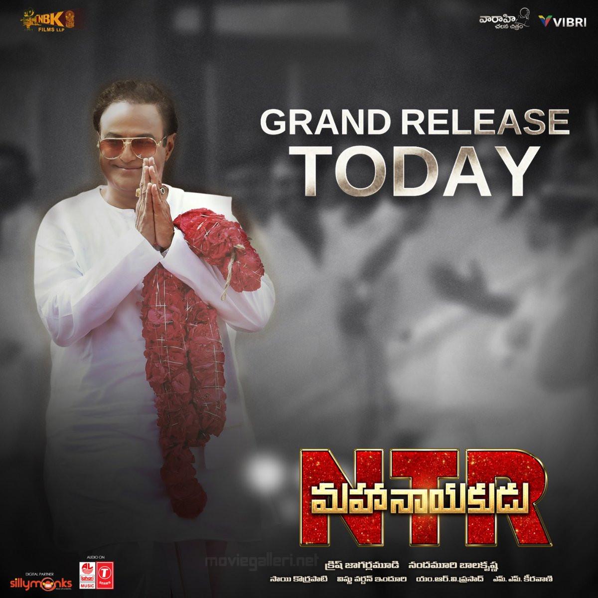 Balakrishna NTR Mahanayakudu Movie Grand Release Today Poster HD