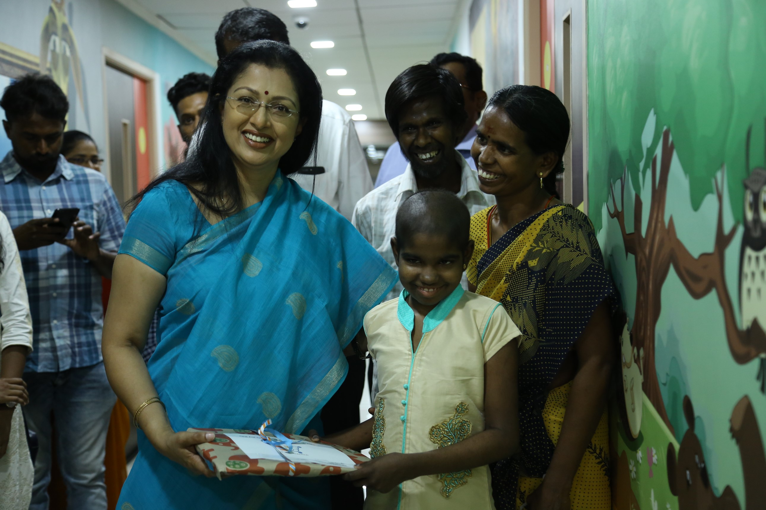 Gautami visited VS cancer hospital Chennai
