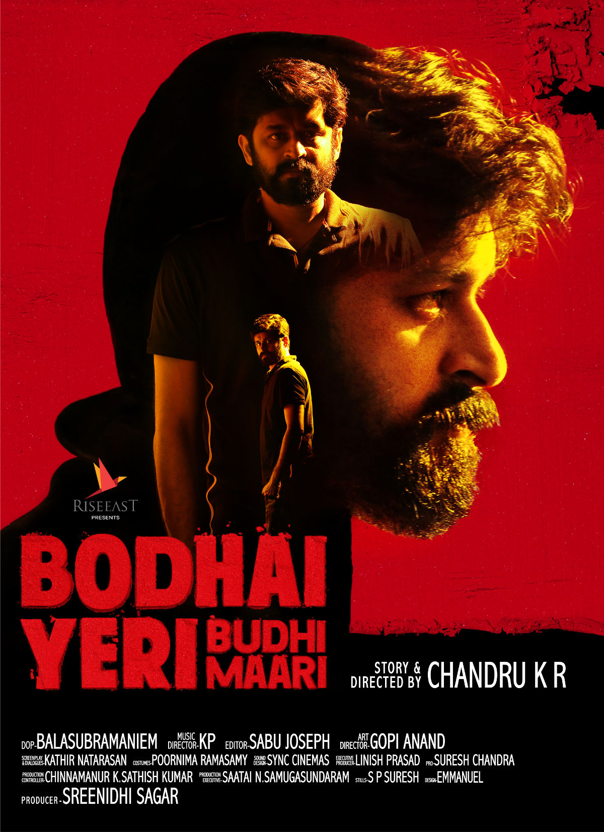 Hero Dheeraj Bodhai Yeri Budhi Maari Movie Poster