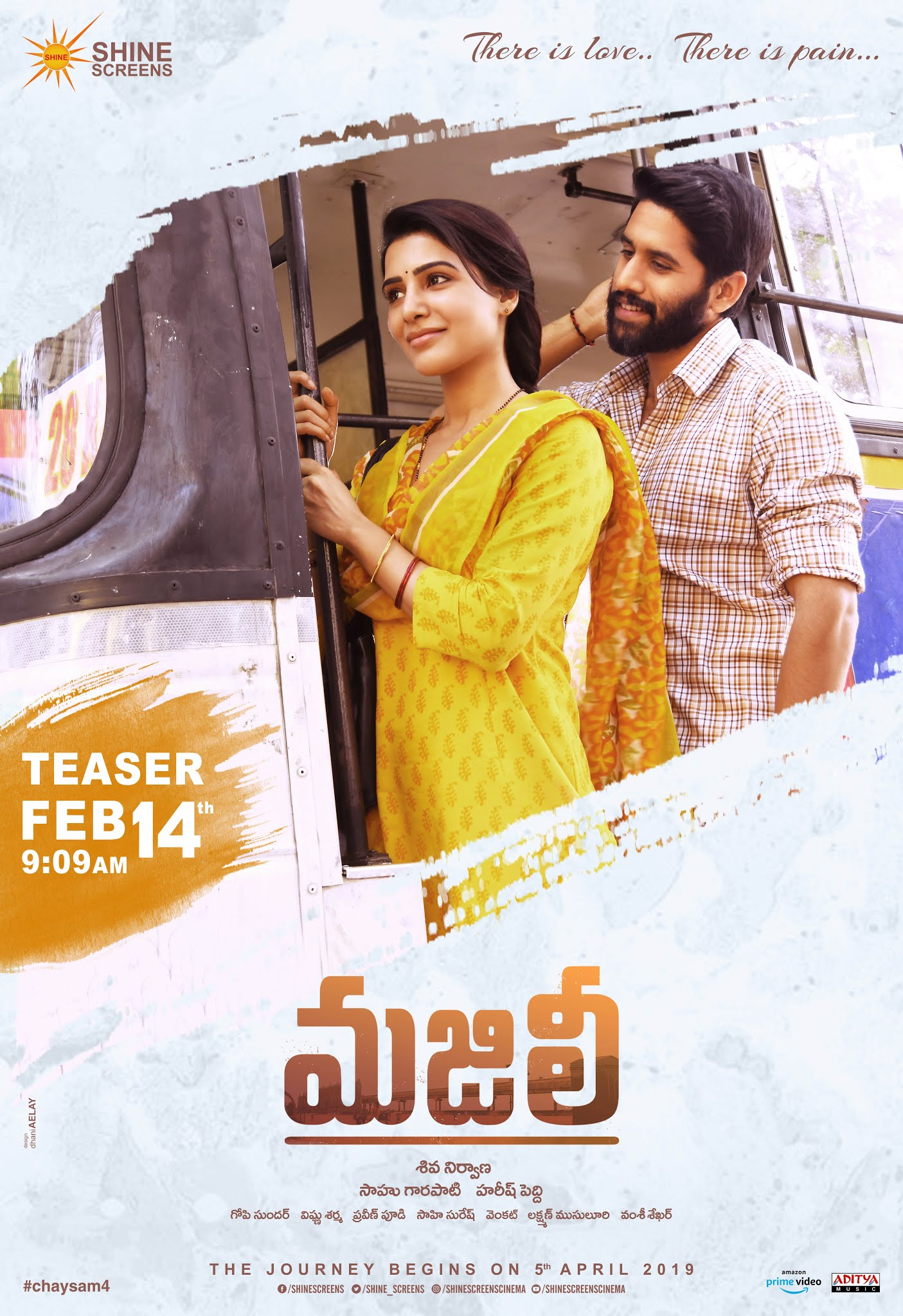 Majili Movie Teaser on Feb 14th Poster HD