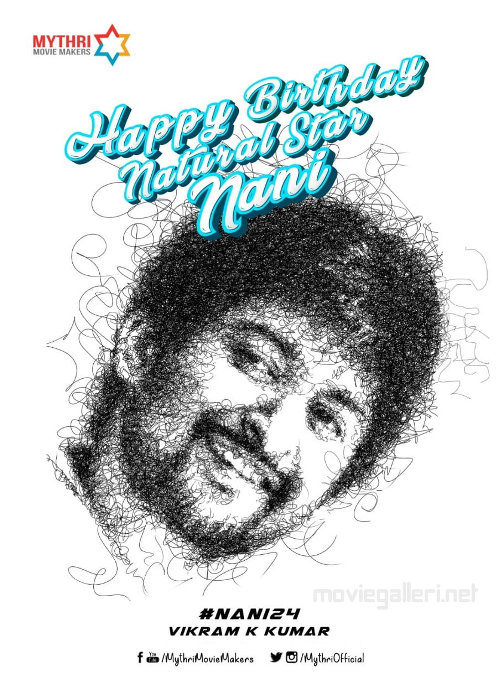 Mythri Movie Makers Nani Birthday Wishes Posters