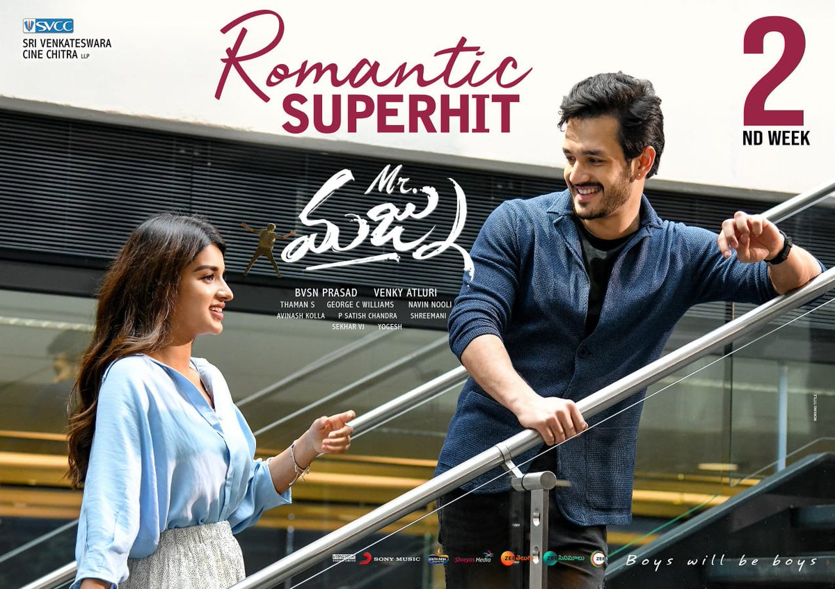 Nidhi Agarwal Akhil Akkineni Mr Majnu Movie 2nd Week Posters