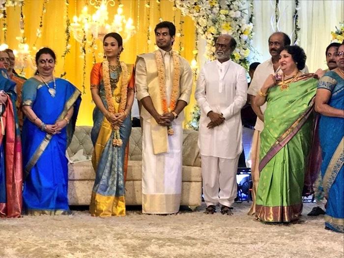 Soundarya Rajinikanth Vishagan Vanangamudi Pre Wedding Reception