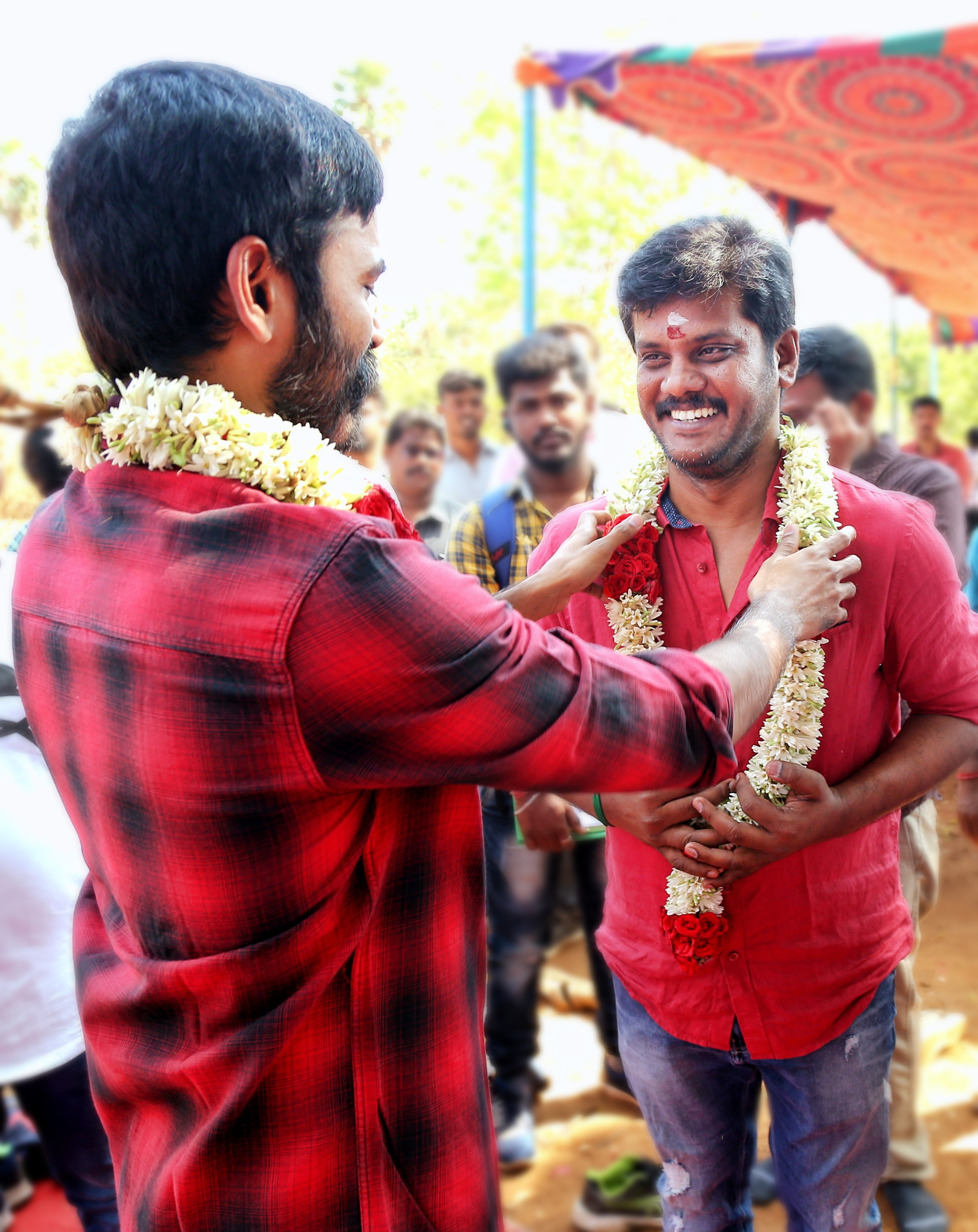 Actor Dhanush Durai Senthilkumar Movie Pooja Stills