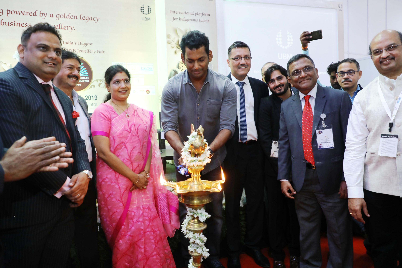 Actor Vishal Krishna inaugurated UBM India's 3 days Chennai Jewellery & Gem Fair