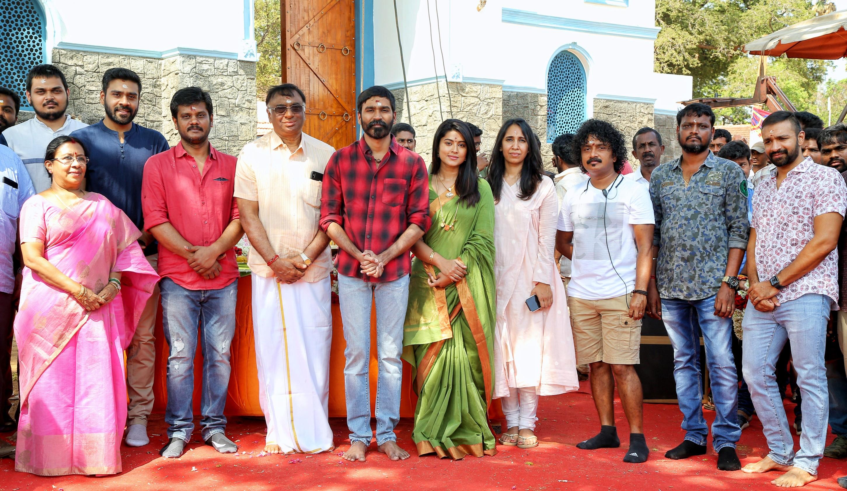 Dhanush, Sneha @ Sathya Jyothi Production No 34 Movie Pooja Stills