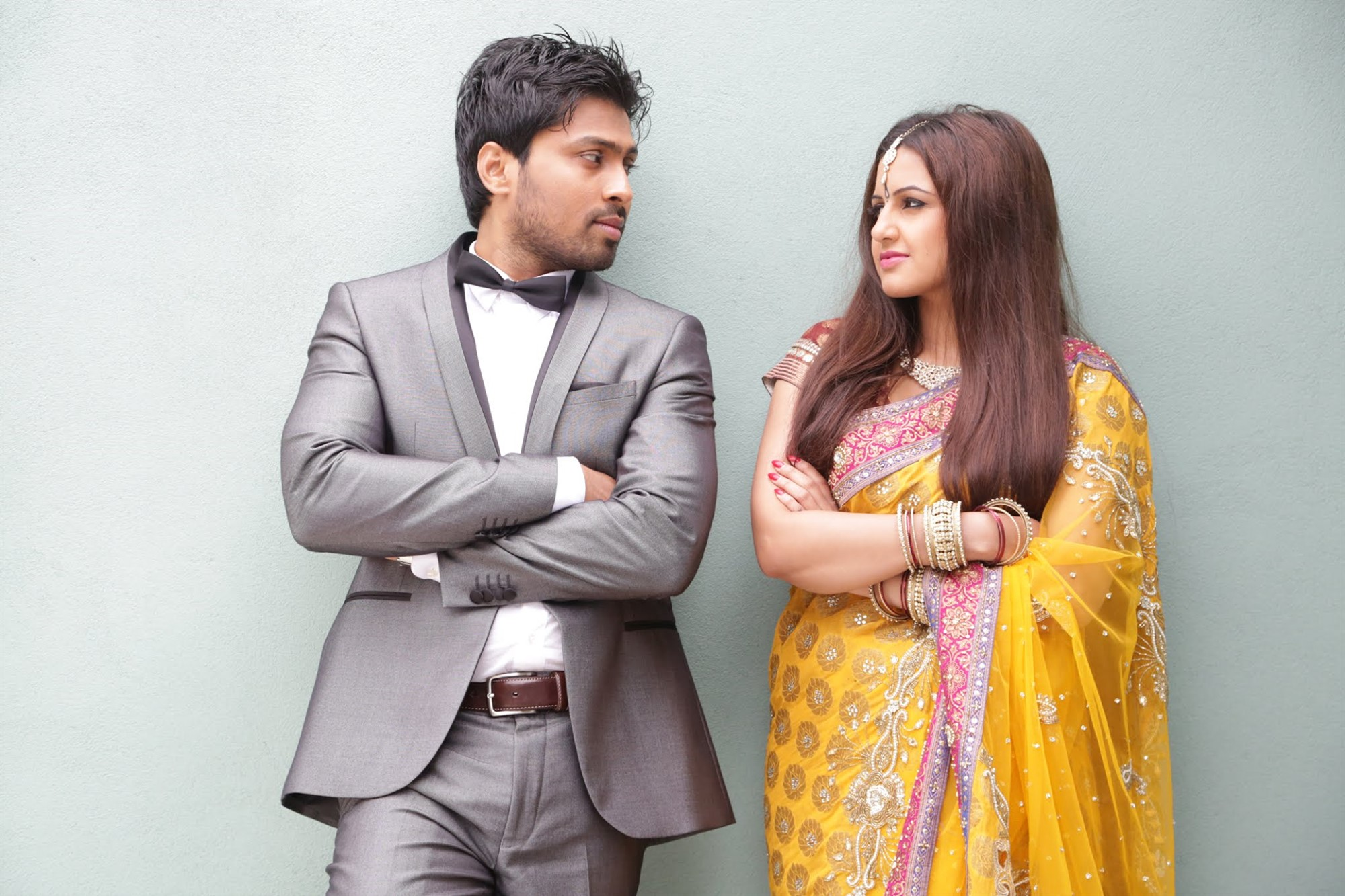 Nishal Deva, Karishma Karpal in Manasa Vacha Movie Stills