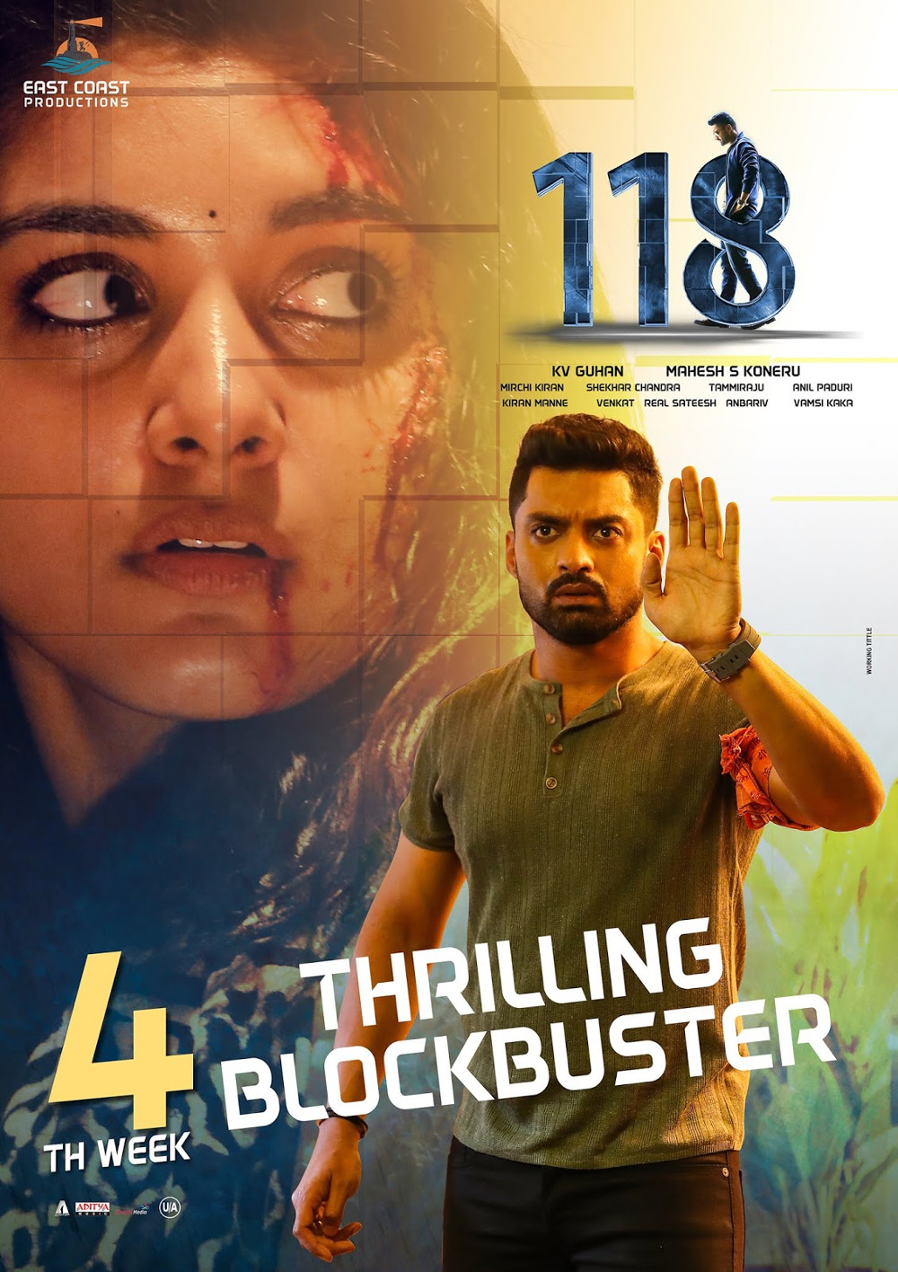 Nivetha Thomas Kalyan Ram 118 Movie 4th Week Posters