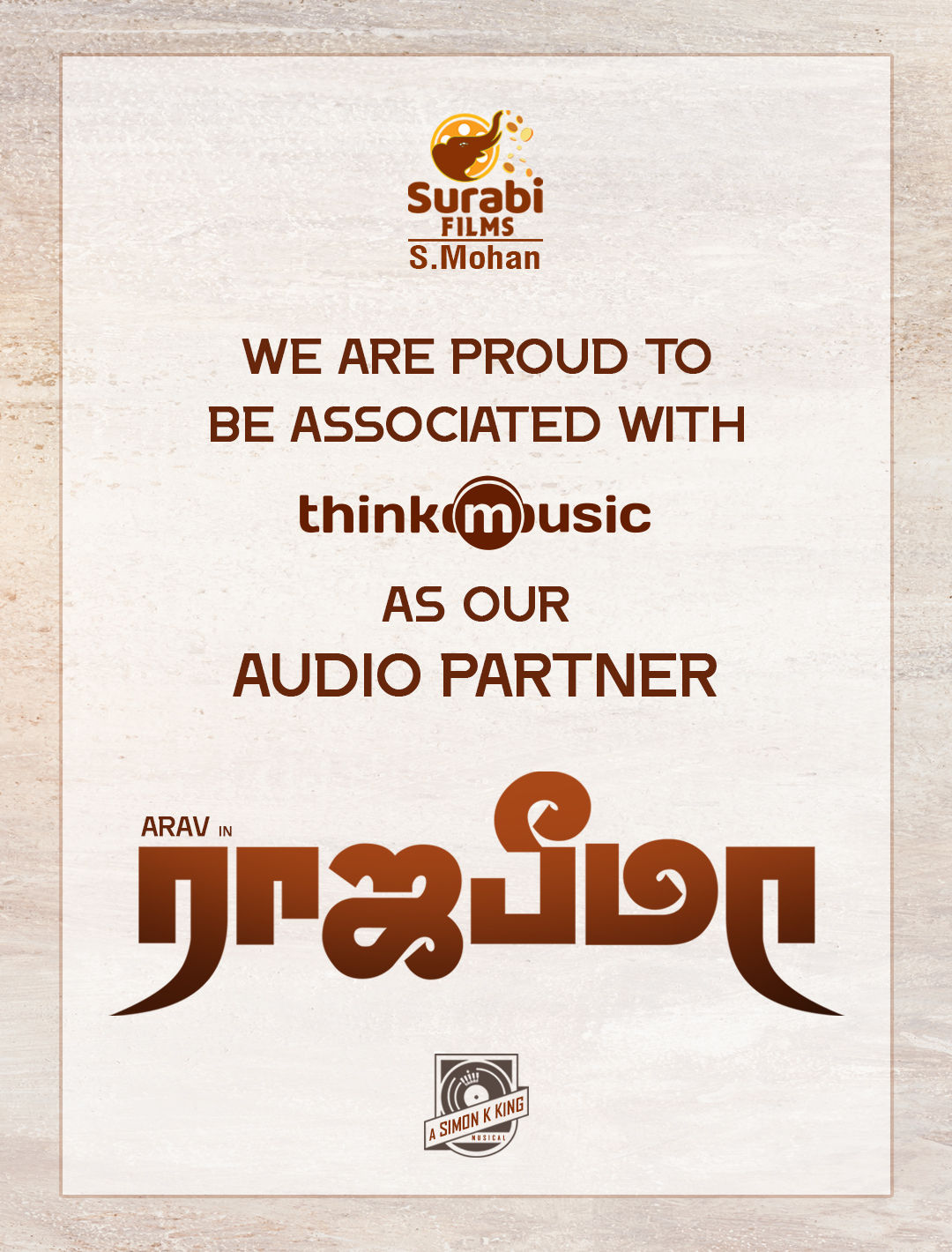 Raja Bheema movie audio rights acquired by Think Music