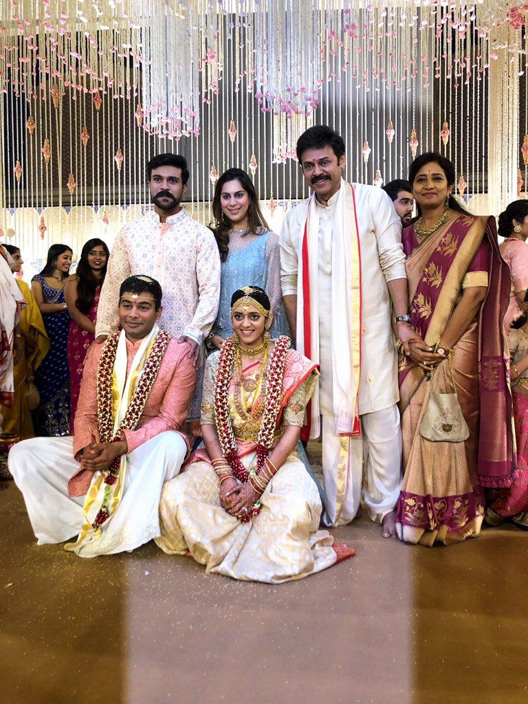 Ram Charan & Upasana @ Venkatesh's Daughter Aashritha Wedding Photos