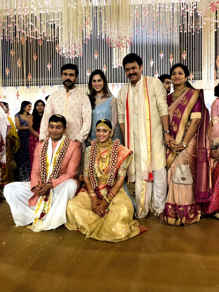 Ram Charan & Upasana @ Venkatesh Daughter Aashritha Vinayak Marriage Photos
