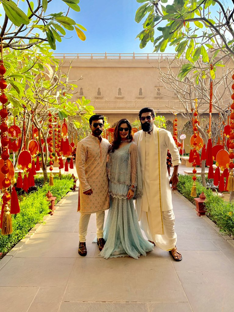 Ram Charan, Upasana, Rana @ Venkatesh Daughter Aashritha Marriage Photos