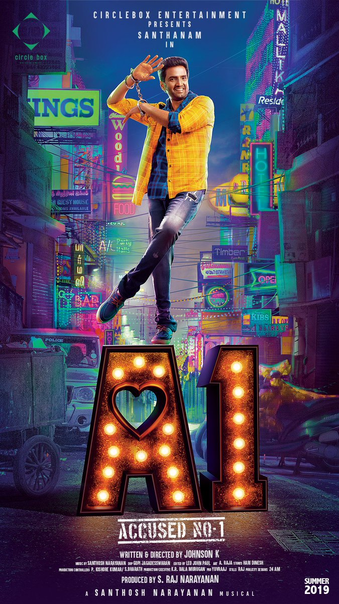 Santhanam A1 Movie First Look Poster