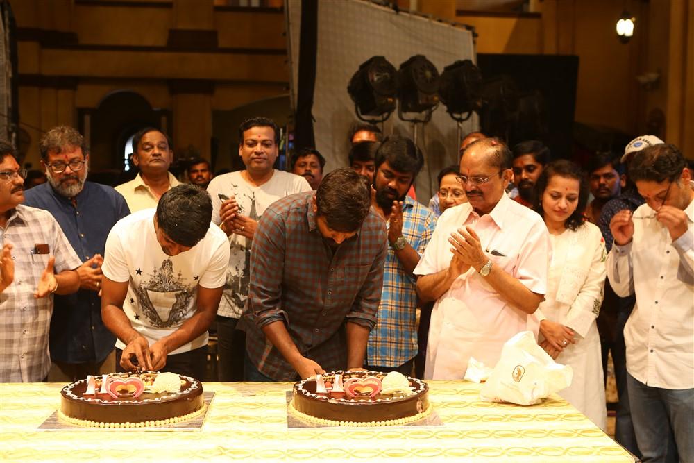 Vijaya Productions Producer B. Venkatram Reddy @ Vijay Sethupathi Vijay Chandar Movie Pooja Stills