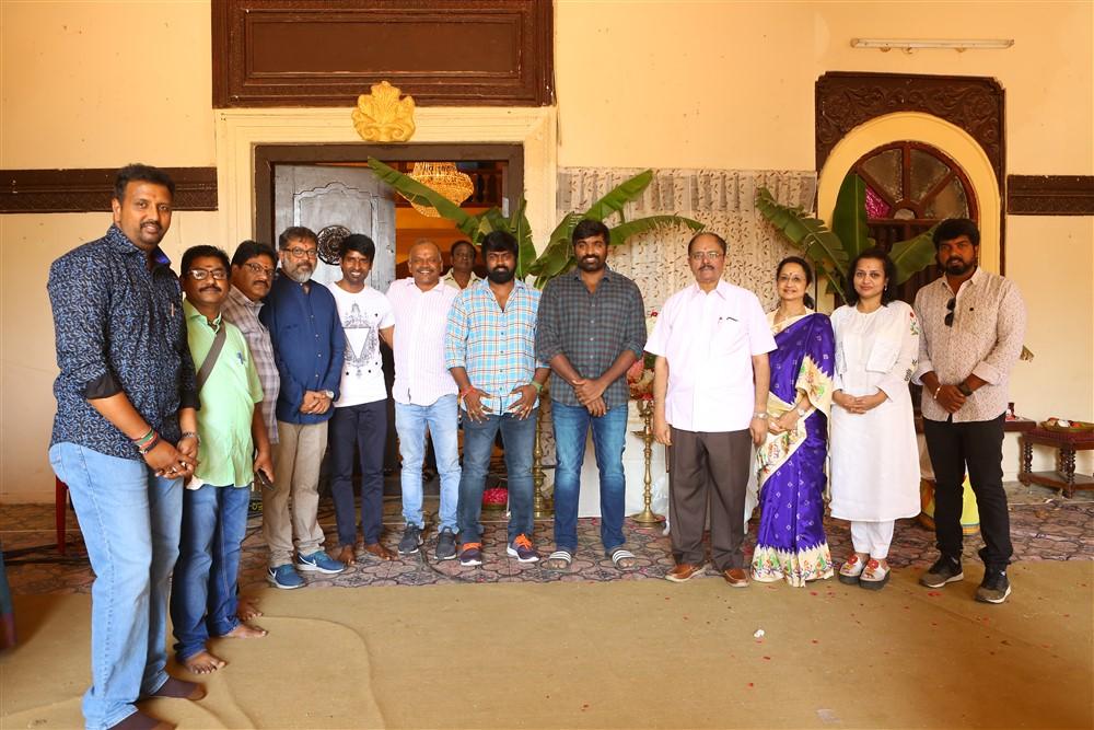 Vijaya Productions Vijay Sethupathi Vijay Chandar Movie Pooja Stills
