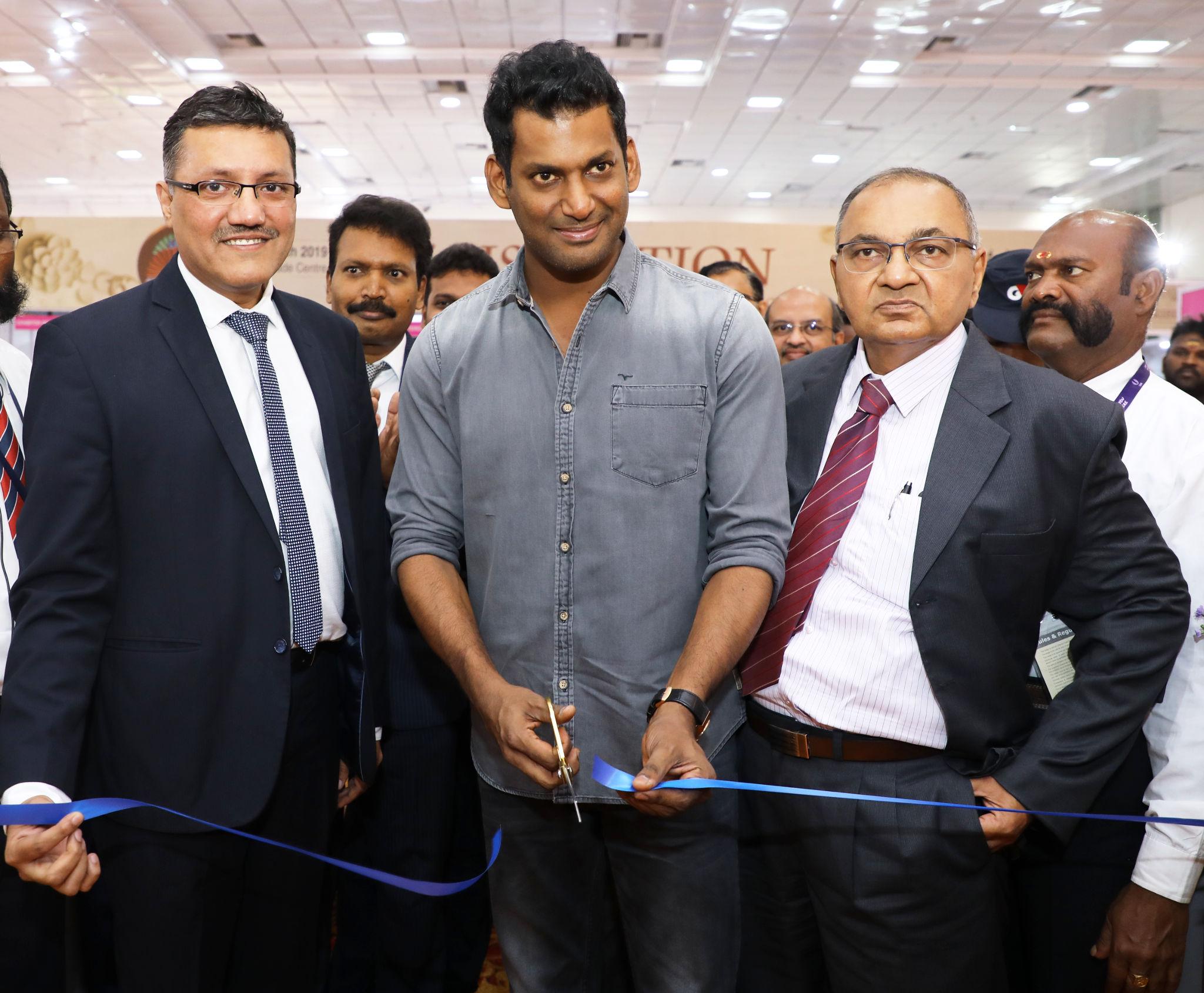 Yogesh Mudras, Vishal, Yogesh Shah inaugurated UBM India's 3 days Chennai Jewellery & Gem Fair