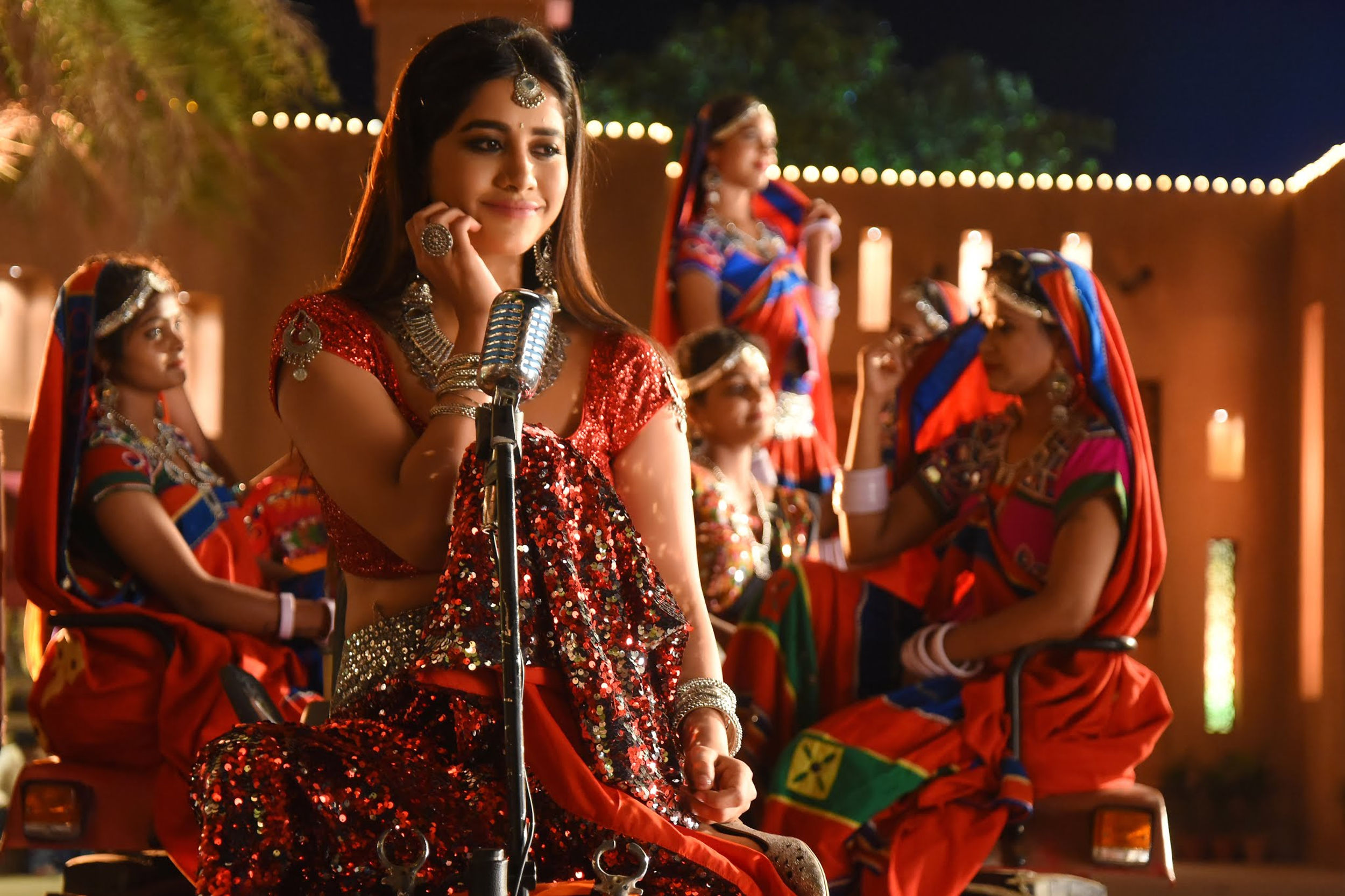 Actress Nabha Natesh from 'iSmart Shankar' 'Dimaak Kharaab' song shoot