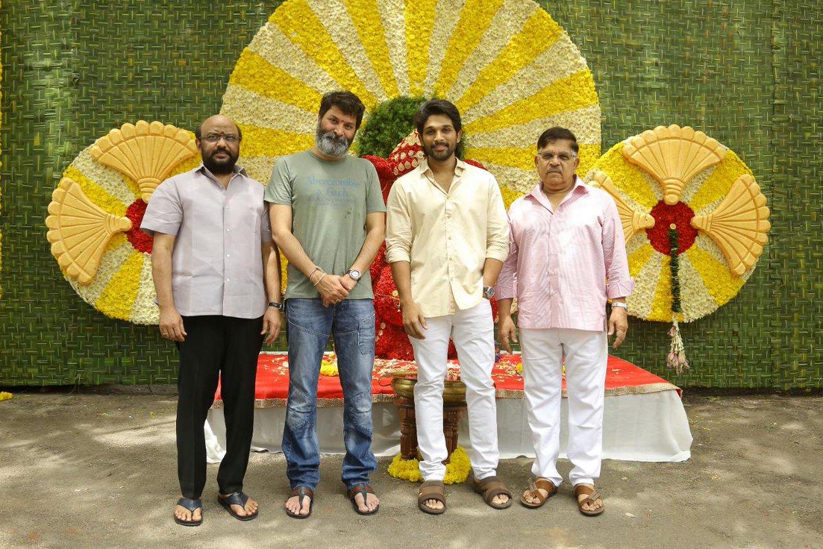 Allu Arjun - Trivikram Srinivas Movie Launch