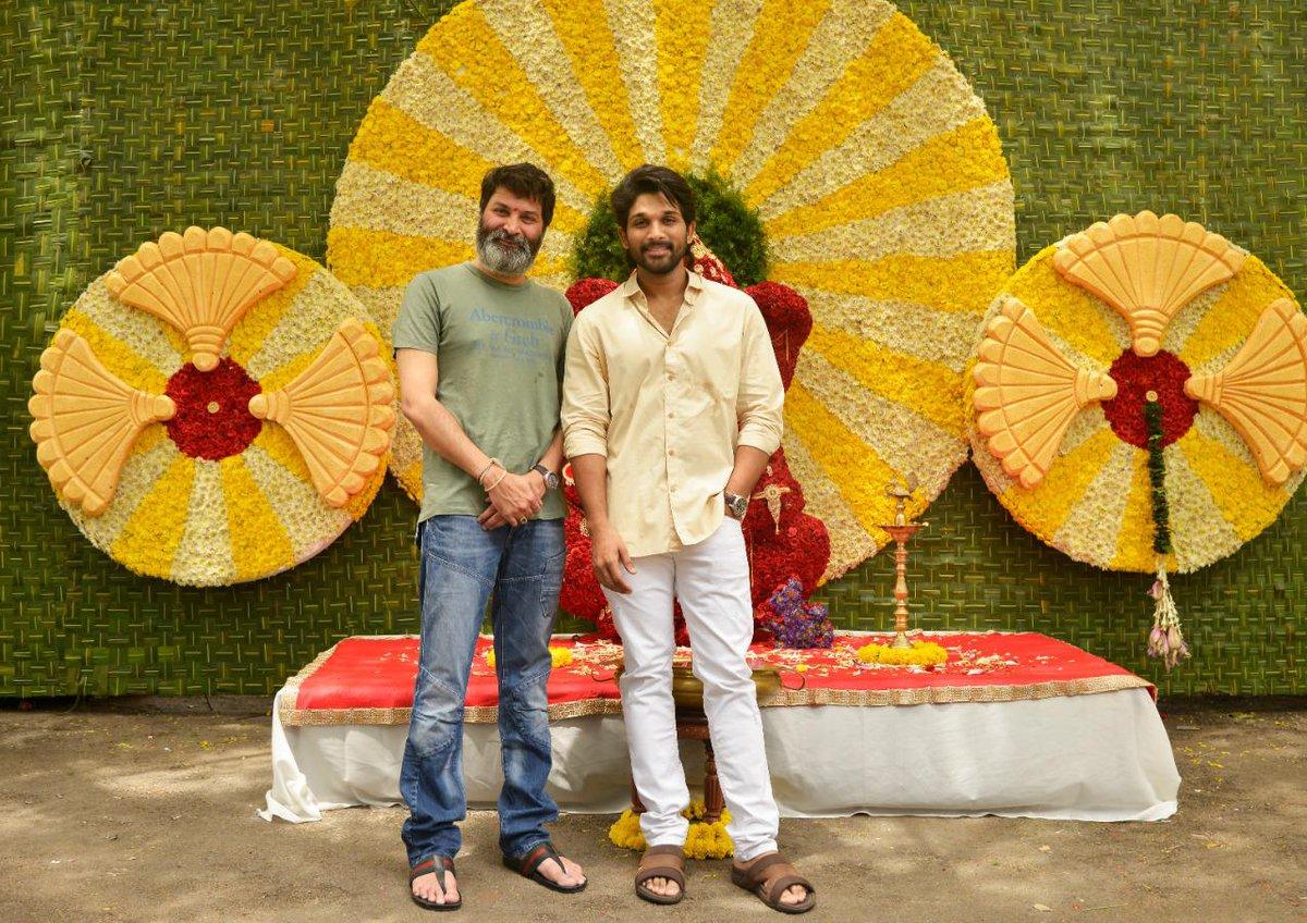 Allu Arjun - Trivikram Srinivas Movie Pooja