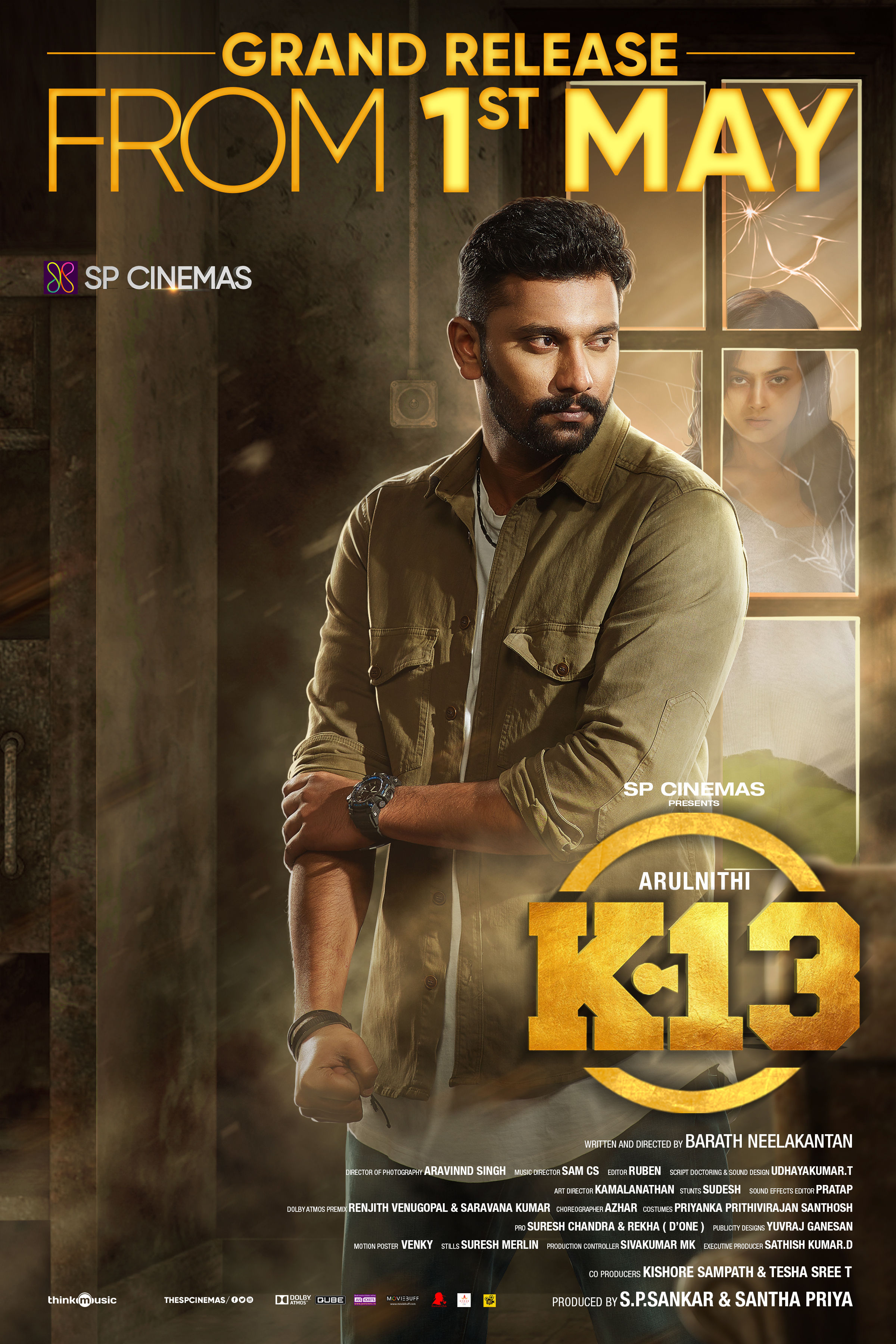 Arulnithi's K13 Movie Release Date on May 1st | New Movie