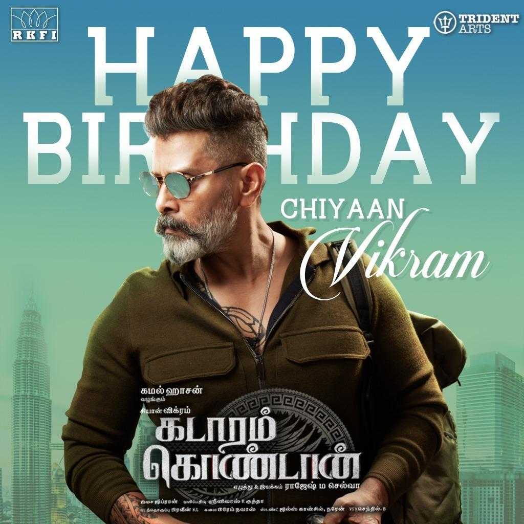 Kadaram Kondan Vikram Birthday Wishes Poster