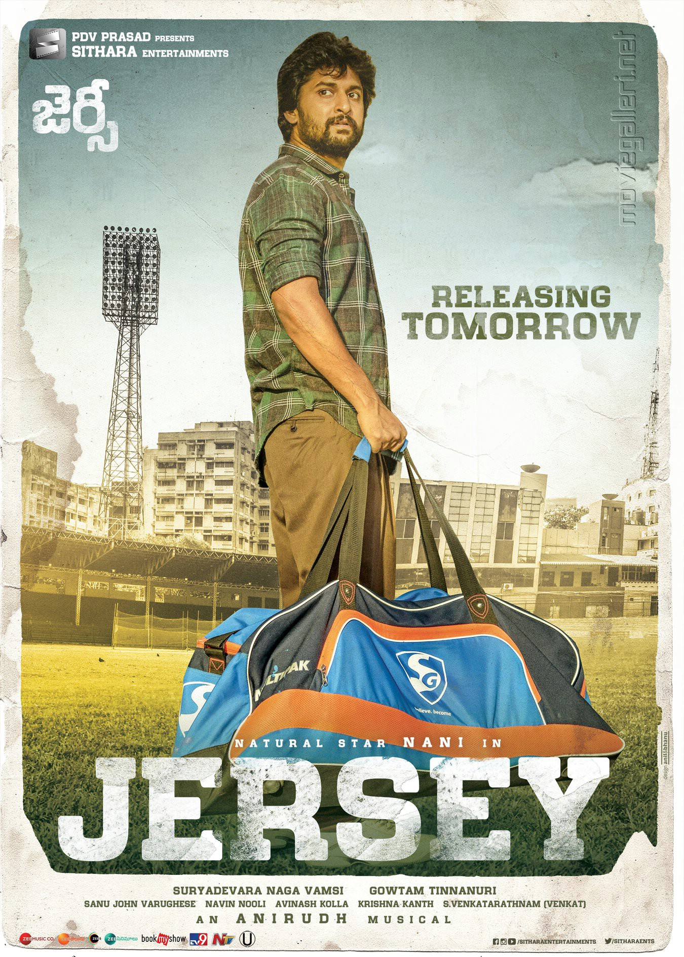Nani Jersey Movie Releasing Tomorrow Posters