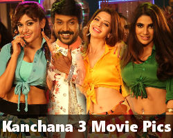 Raghava Lawrence Oviya Vedhika Nikki Tamboli Kanchana 3 Movie Pics HD
