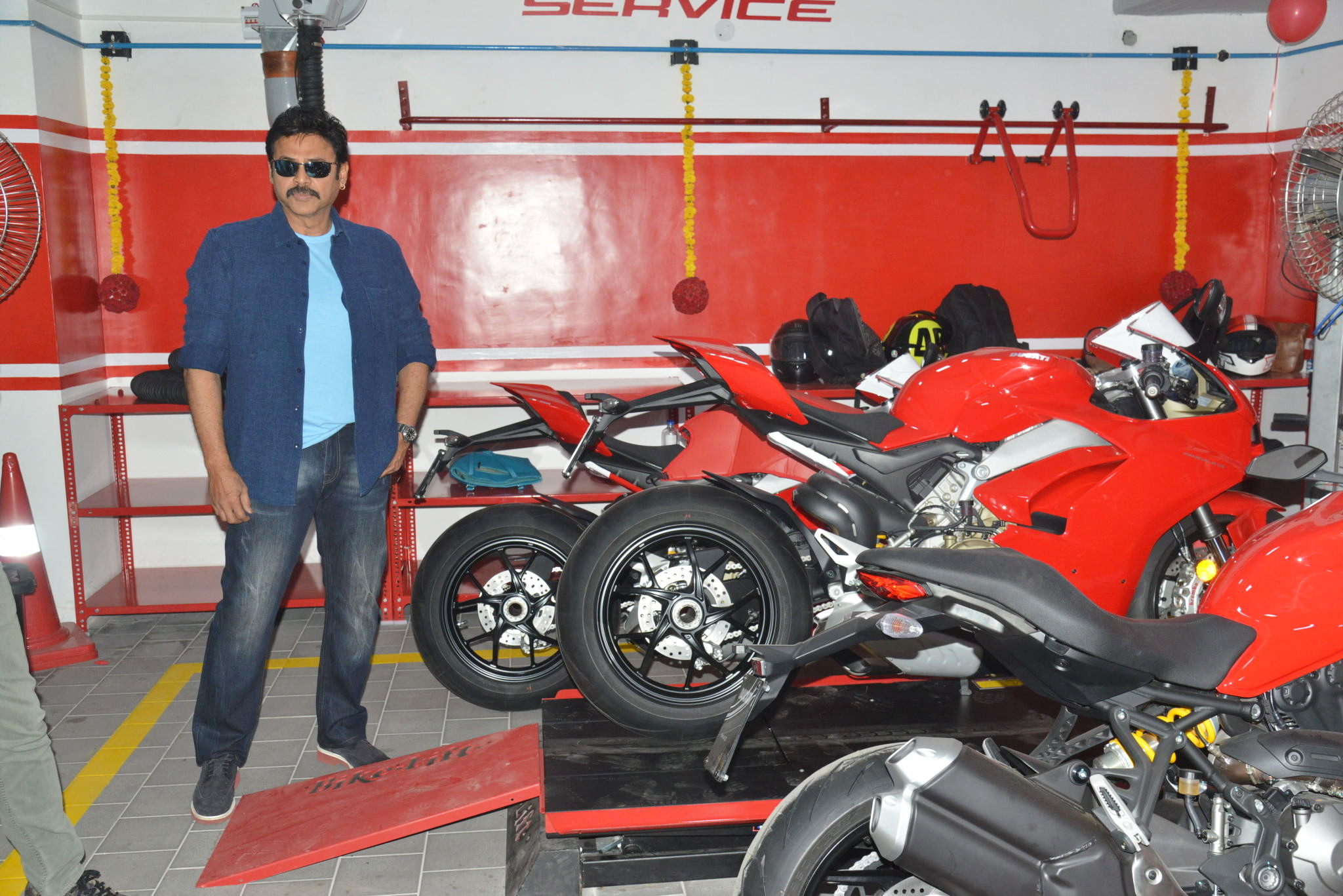 Scrambler Ducati showroom launch by Venkatesh and Naga Chaitanya