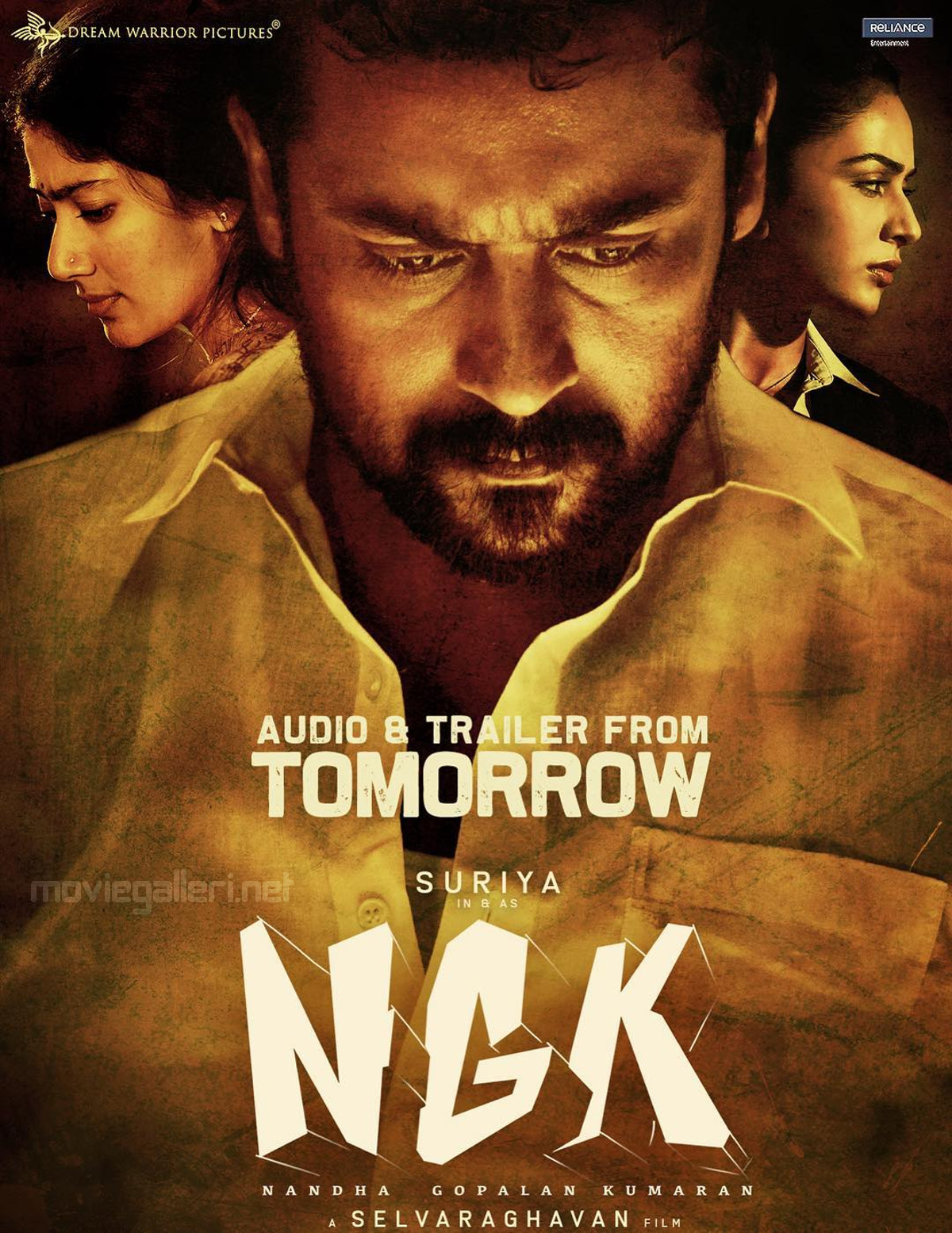 Suriya NGK Movie Audio Trailer Tomorrow Poster HD