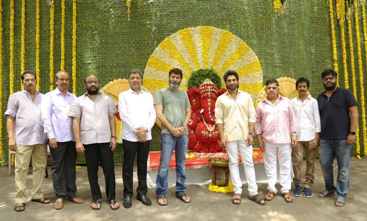 Trivikram Srinivas Allu Arjun Movie Pooja