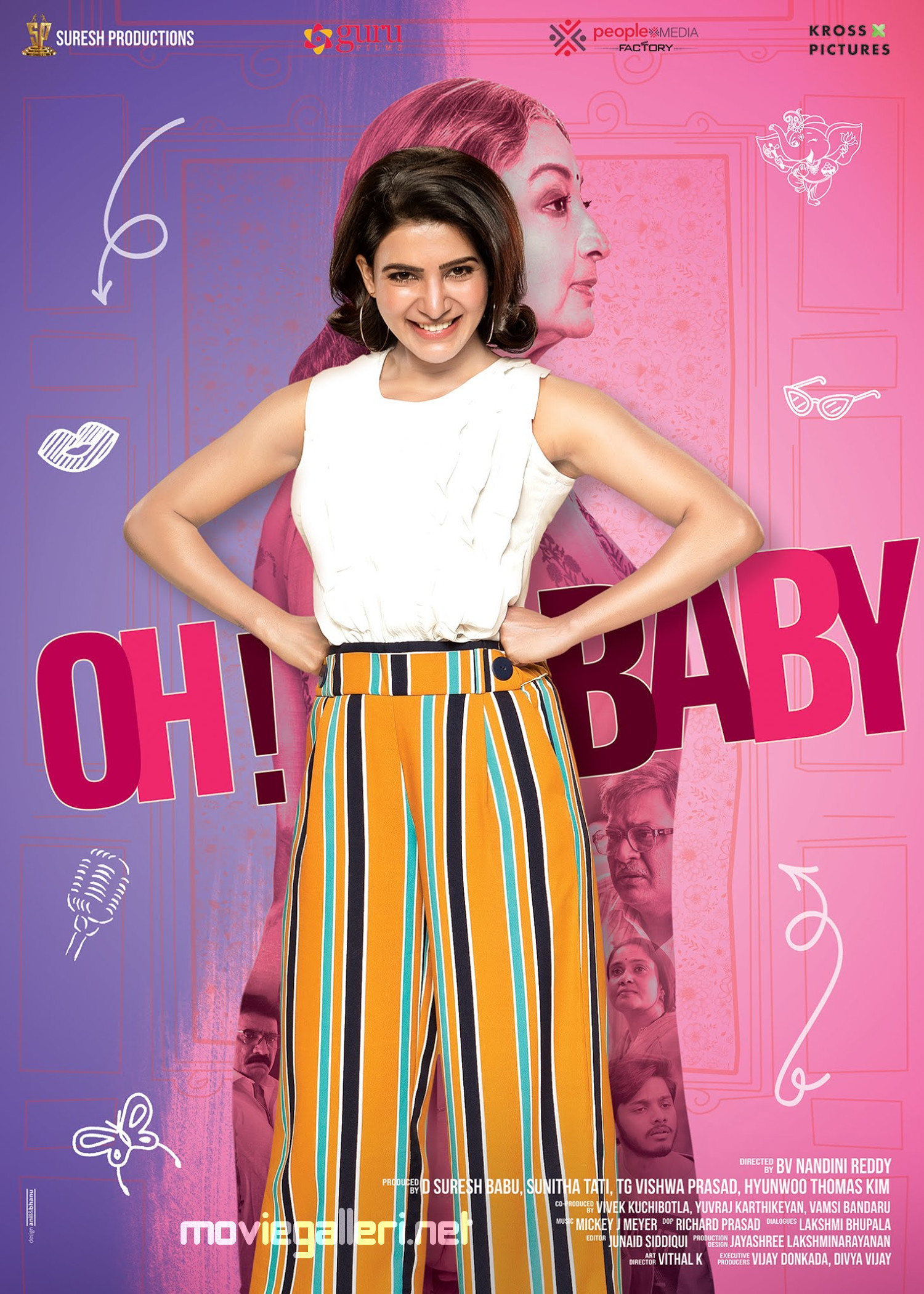 Actress Samantha Oh Baby Movie First Look Poster HD
