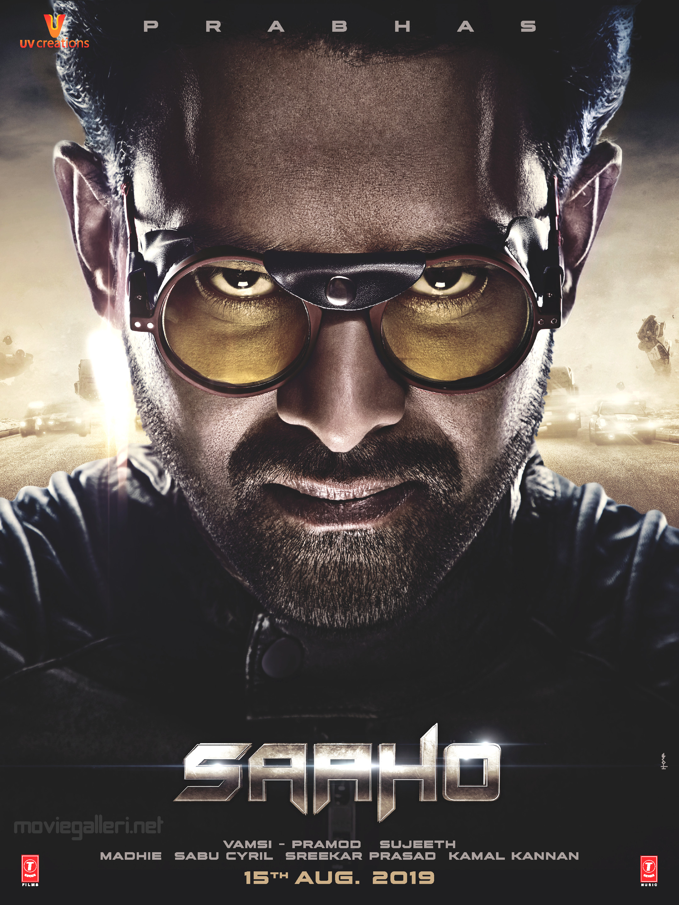 Actor Prabhas Saaho Movie Release Date on 15th Aug Poster HD