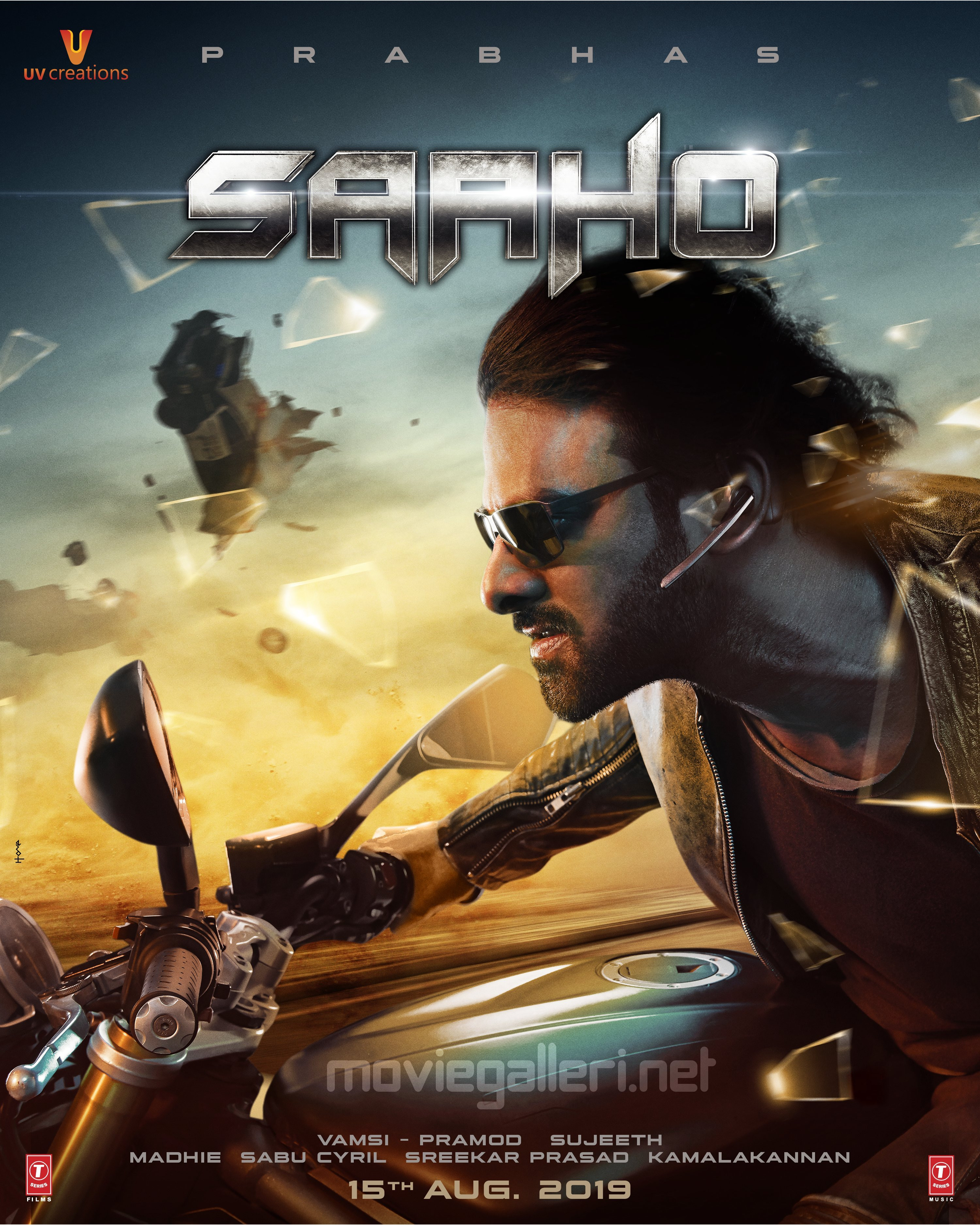 Prabhas Saaho Movie Releasing on 15th Aug Poster HD