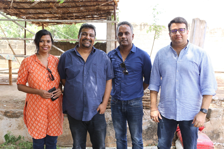 Pushkar, Gayatri, Sashikanth, Chakravarthy Ramachandra @ AELAY Movie Pooja Stills